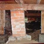 Ross Bay Crawl Space Brick Pillar