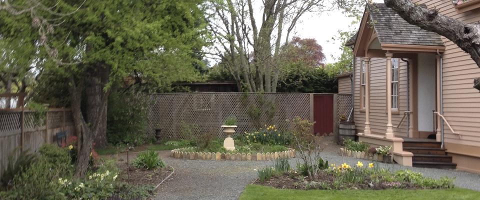 Ross Bay Villa Spring front garden 2015
