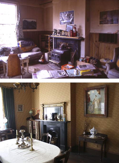 Dining Room Mantle Ross BAy BEFORE & AFTER Resized