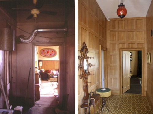 Front Hall Ross Bay Before & After