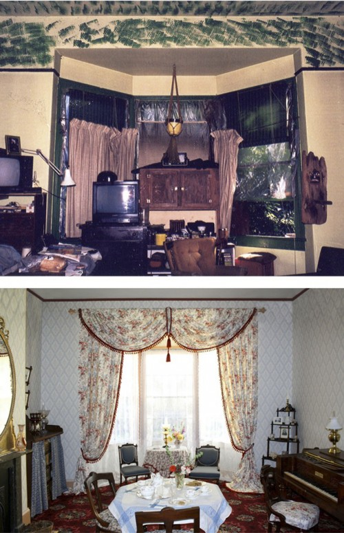 Ross Bay Villa Drawing Room BEFORE & AFTER RESIZED