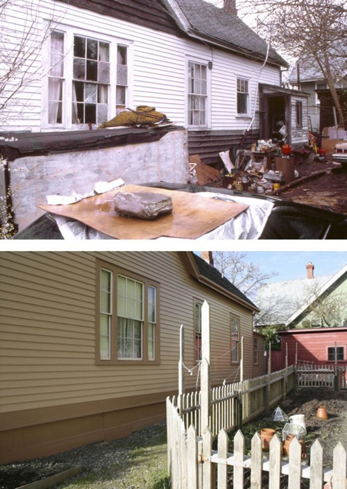Ross Bay east wall BEFORE & AFTER RESIZED