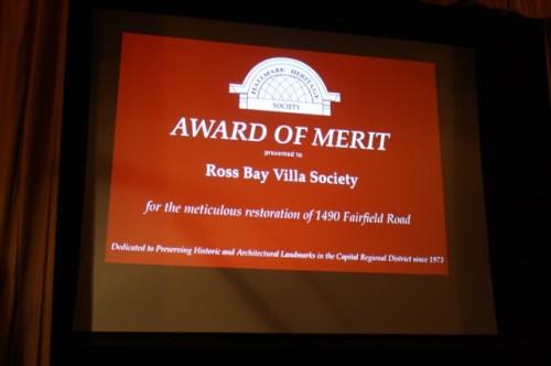 Award For Ross bay Villa