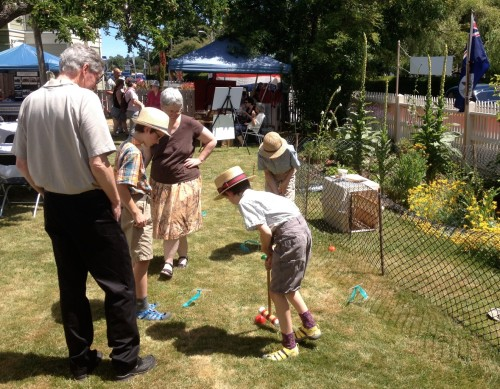 Croquet players at Ross Bay Villa Canada Day 2014