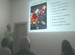 City of Lost Gardens lecture
