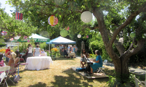 Ross Bay Garden Party 2015 tents