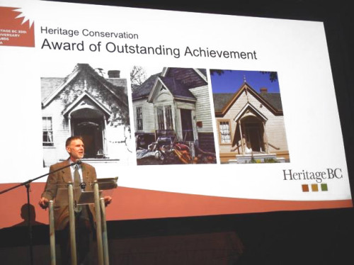 Ross Bay BC Heritage Award Image with Davyd McMinn
